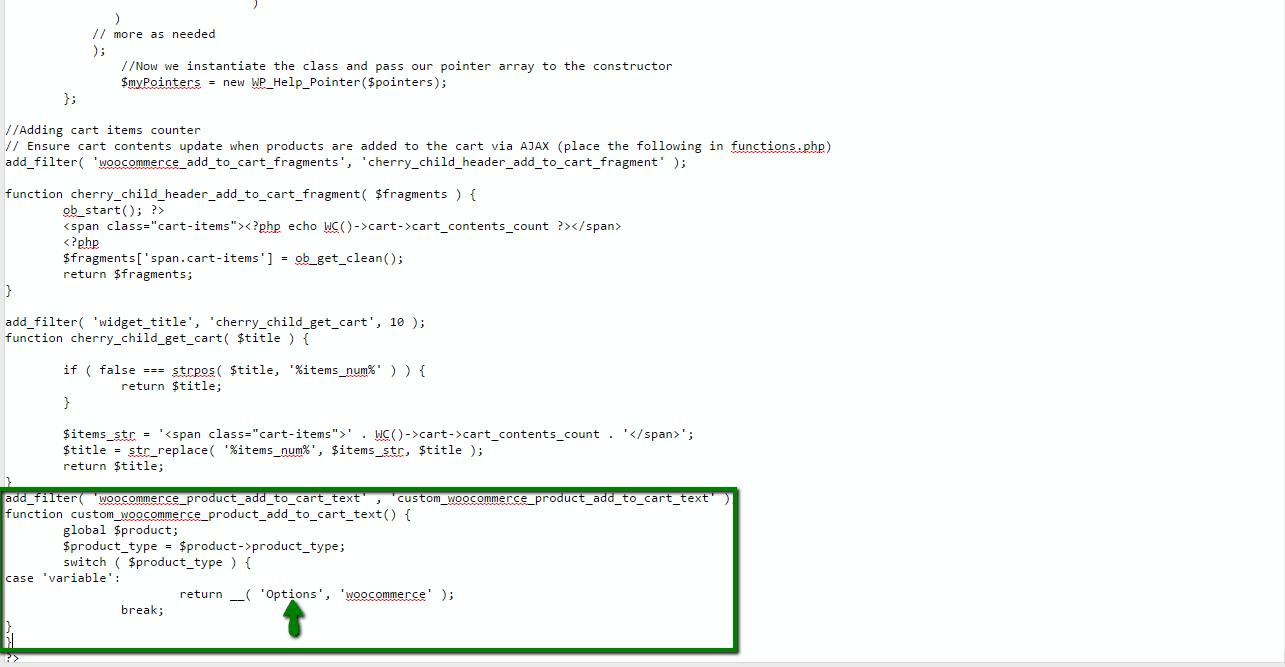 آموزش تغییر متن Select options ووکامرس