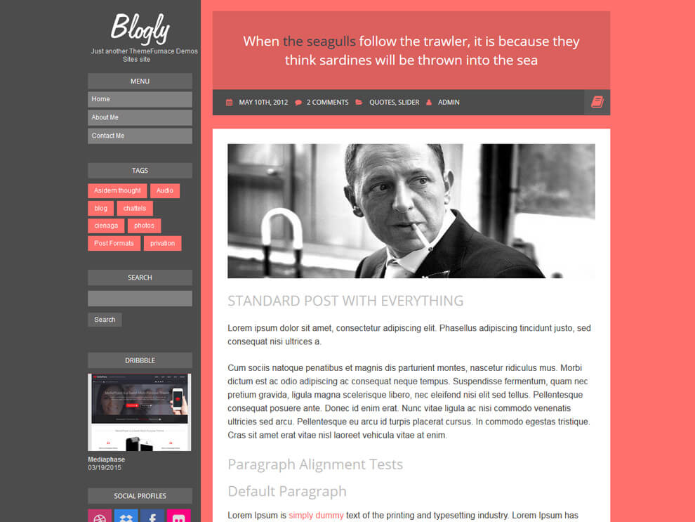 قالب وردپرس رایگان CleanPort و Blogly