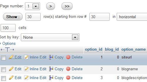 بروزرسانی آدرس های وردپرس از طریق دیتابیس