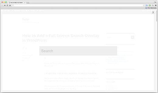 نحوه ایجاد صفحه جستجوی تمام صفحه در وردپرس