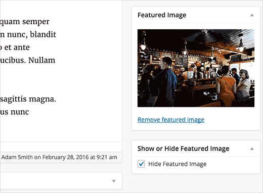 نحوه مخفی کردن تصاویر شاخص پست ها در وردپرس