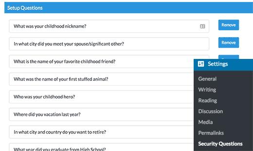 نحوه اضافه کردن سوالات امنیتی به صفحه ورود وردپرس