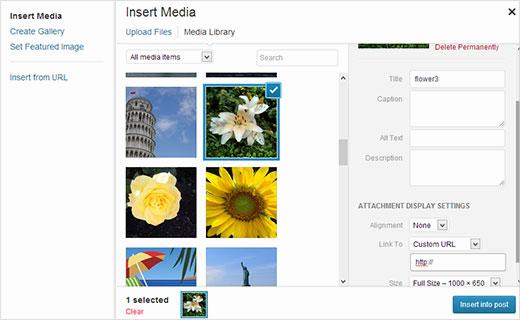 نحوه اضافه کردن لینک سفارشی به تصاویر گالری در وردپرس