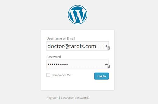 نحوه ورود کاربران با ایمیل به وردپرس
