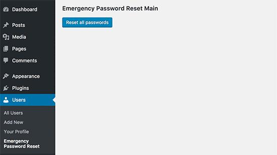 آموزش تغییر رمز عبور همه کاربران وردپرس
