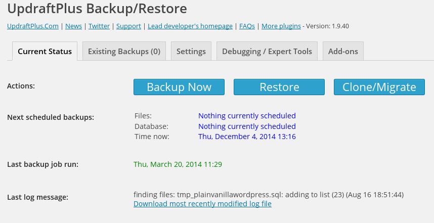 افزونه پشتیبان گیری UpdraftPlus WordPress Backup Plugin