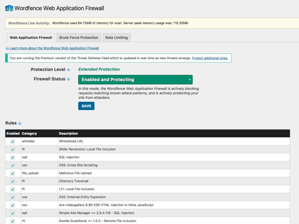 افزونه افزایش امنیت Wordfence Security