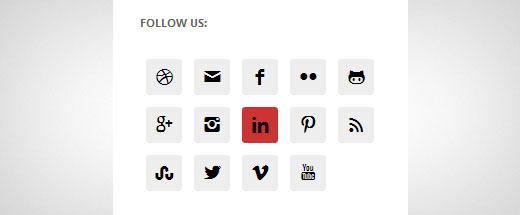 نحوه اضافه کردن آیکون شبکه های اجتماعی در نوار کناری وردپرس