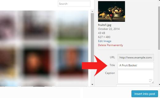 نحوه اضافه کردن مشخصه عنوان به تصاویر در وردپرس