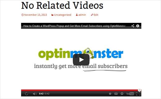 نحوه غیرفعال کردن ویدیوهای مرتبط یوتیوب در وردپرس