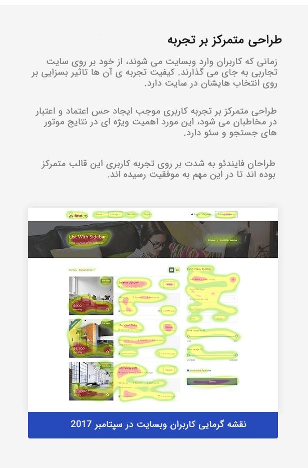 قالب وردپرس املاک فایندئو findeo | طراحی متمرکز بر تجربه